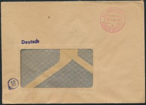 All. Besetzung Firmen - Brief ab Saarbrücken mit K2 Gebührbezahlt vom 30.3.1946