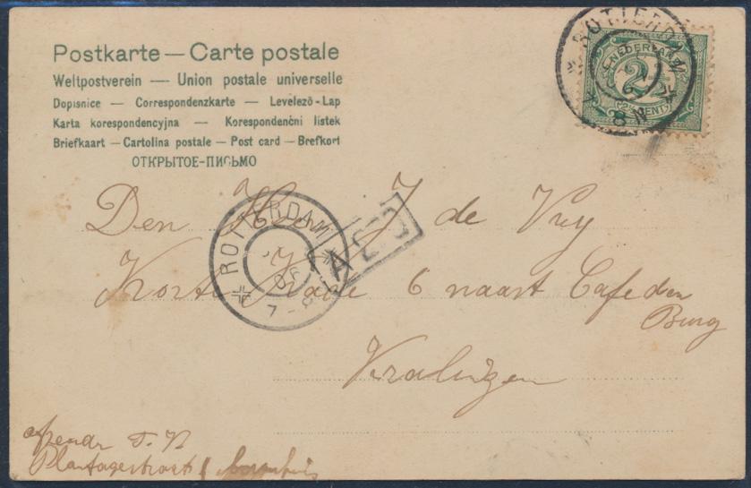 Ansichtskarte Jugendstil Art Nouveau Litho Rotterdam 1906 Telegramm Mädchen  1
