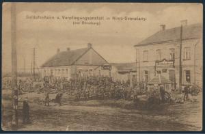 Ansichtskarte Feldpost nach Berlin 1916 Soldatenheim Novo - Svenziany Dünaburg