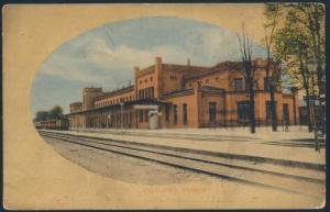 Ansichtskarte Künstlerkarte Bahnhof Eydtkirchen Tschernyschewskoje Eisenbahn