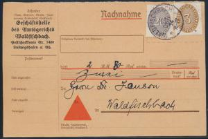 Deutsches Reich Brief Dienst 114 + 119 per Nachnahme Waldfischbach 25.10.1934