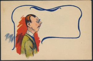 Ansichtskarte Jugendstil Künstlerkarte Mann mit Brille holländisch