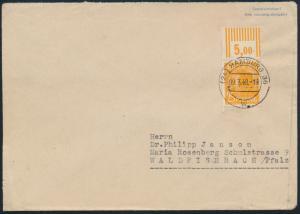 Besetzung Brief EF 952 W OR 25 Gemeinschaft Oberrand Hamburg nach Waldfischbach