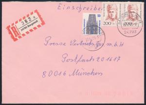 Bund Brief Einschreiben MIF 1340 + 1498 Frauen im Paar Bargstedt nach München