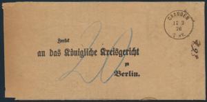 Altdeutschland Schleswig Holstein Brief Gaarden Kiel nach Berlin 17.2.1876