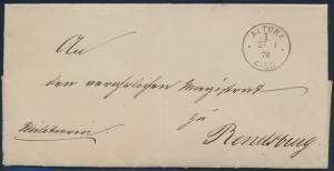 Deutsches Reich Brief Dienstsache Standesamt K 1 Altona nach Rendsburg
