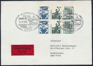 Bund Brief Eilzustellung Bahnpost  HB 31 Zusammendruck SST Festtage Altenholz 90