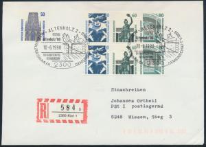 Bund R - Brief ex. HB  31 Zusammendruck SST Festtage Altenholz 90 Eiderkanal