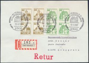 Bund Brief Einschreiben und Retur 914+1038 Paare SST Altenholz 2 nach Sveagruva