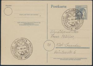 Besetzung Ganzsache P 962 SST Lübeck Briefmarken-Ausstellung n. Kiel-Gaarden