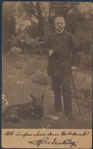 Ansichtskarte Foto Portrait Paul von Hindenburg mit Hund Ostern 1925