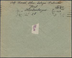 Deutsches Reich Brief MEF 150 Kiel nach Westerland 24.1.1922