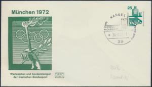 Bund Privatganzsache SST Olympia - Fackellauf München 26.8.1972