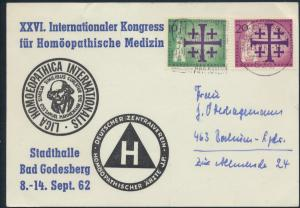 Bund Anlaßkarte MIF Berlin 215-216 Bad Godesberg n Bochum Homöpathie 11.9.1962