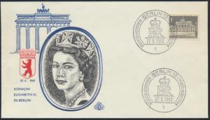 Berlin Brief 140 Motiv Brandenburger Tor SST Deutschlandbesuch Queen Elizabeth