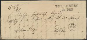 Altdeutschland Preussen Vorphila Brief Perleberg nach Potsdam 14.12.1838