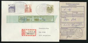 Bund Brief Einschreiben 913+919+1140 SST 75 Jahre Stadttheater Lübeck Heupelzen