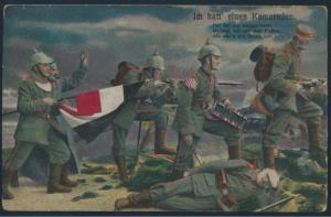 Ansichtskarte Künstler Feldpostkarte nach Castrop 1915 Ich hatt einen Kameraden