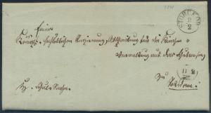 Altdeutschland Preußen Vorphila Brief K1 Storckow nach Potsdam 9.2.1840