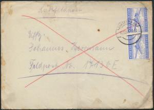Deutsches Reich Brief Luftfeldpost FP 1 Nr. 17130 E Paar Dresden 11.12.1943