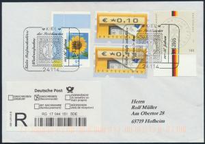 Bund Brief R-Brief 2434+2422+ATM 4 SST Wiederaufnahme Postdienst nach Hofheim