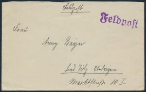 Deutsches Reich Brief Abs. Feldpost Nr L 37166 Luftgau Postamt Münster-Westfalen
