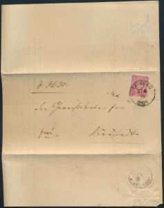 Deutsches Reich Brief 33 a Triberg vom Großh. Bad. Amsgericht Heimatkunde