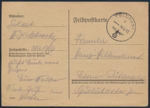 Deutsches Reich Feldpost Nr. 26219 D Rußland nach Essen-Rüttenscheid
