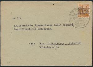 Alliierte Besetzung Brief 44 I SST Bad Wimpfen nach Heilbronn 3.7.1948