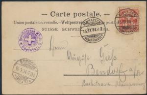 Schweiz Ansichtskarte 54 Neuhausen nach Bendorf Rheinfall Schaffhausen