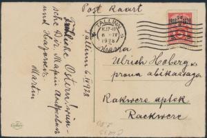 Estland Postkarte 69 Tallinn nach Rakvere Wesenberg 6.4.1928 Ostern Küken Ei