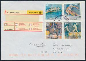Bund Brief Einschreiben 1592-1595 Wilnsdorf nach Köln Olympia Sport