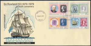 Bahamas Brief MIF440-443 Nassau Sir Rowland Hill Postschiff Schifffart Marine