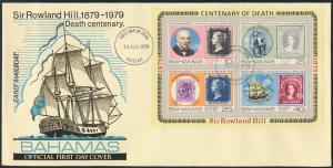 Bahamas Brief Block 27 Nassau Sir Rowland Hill Postschiff Schifffart Marine