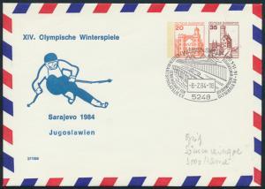 Bund Privatganzsache Olympia Winterspiele Sarajevo SST Wissen Olymbria '84