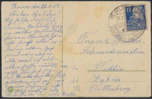 Sowjetische Besetzung Postkarte Geburtstag EF 216 SST Belzig Markt nach Weddin