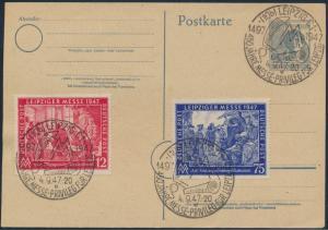 Alliierte Besetzung Gemeinschaft Ganzsache + ZUF 965+966a 450 J Messe Leipzig
