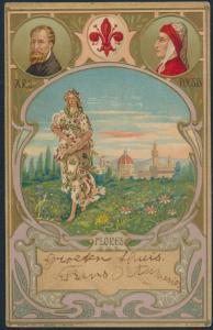 Ansichtskarte Künstler Prägekarte Jugendstil Flores Ars Poesis nach Warmond