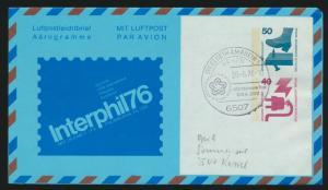 Flugpost airmail Berlin Ganzsache SST Ingelheim Int. Tage USA 200 postal