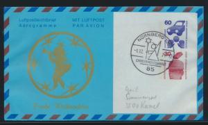 Lufthansa Flugpost airmail Berlin Privatganzsache SST Nürnberg Christkindlmarkt