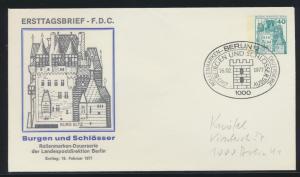 Berlin Privatganzsache 40 Pfg  Burgen und Schlösser als FDC