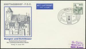 Berlin Privatganzsache FDC Erstausg. Berlin Burgen Schlösser 200 Pfg.