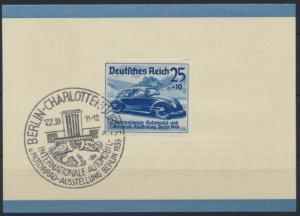 Deutsches Reich Reklame Bank Automobil Ausstellung 688 SST Berlin Charlottenburg