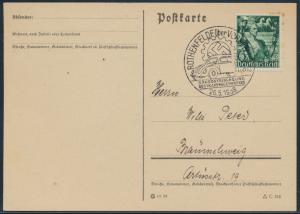 Deutsches Reich Postkarte 660 SST Rothenfelde Braunschweig Auto VW Volkswagen