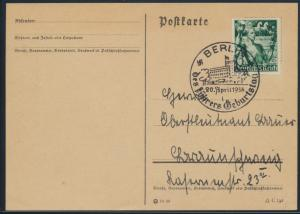 Deutsches Reich Postkarte 660 SST Propaganda Berlin Geburtstag