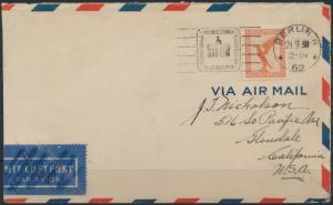 Deutsches Reich Brief Flugpost 381 SST IPOSTA Berlin nach Glendale CA USA