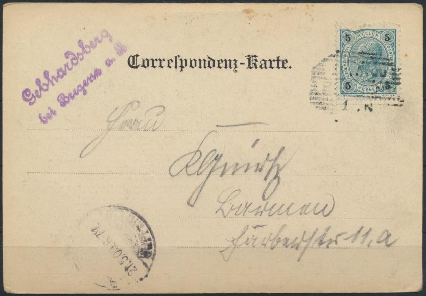 Ansichtskarte Foto Österreich viol. L2 Gebhardsberg bei Bregenz  1