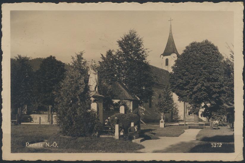 Ansichtskarte Foto Österreich Pernitz Kirche nach Wien  0
