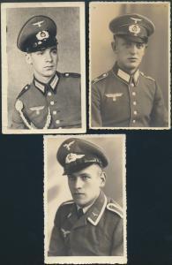 Militär Militaria Foto Ansichtskarte II. WK Deutsches Reich Karten Soldaten