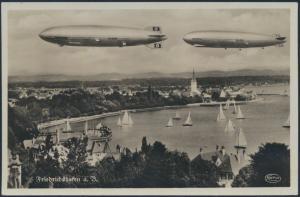 Ansichtskarte Zeppelin Hindenburg Friedrichshafen Luftschiffahrt